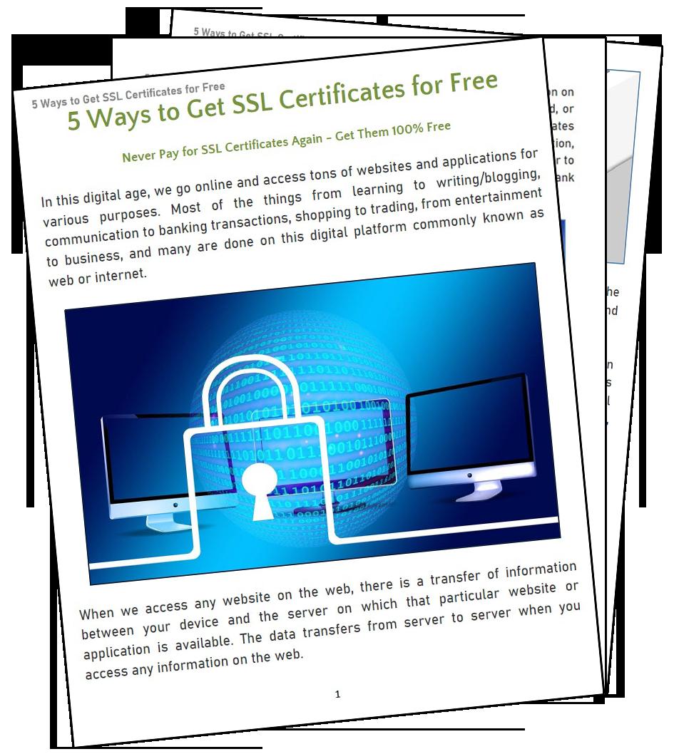 5 Ways To Get SSL